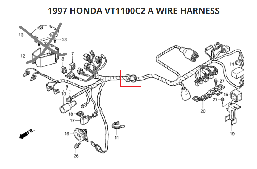 1997 Honda Shadow 1100 Wiring Diagram