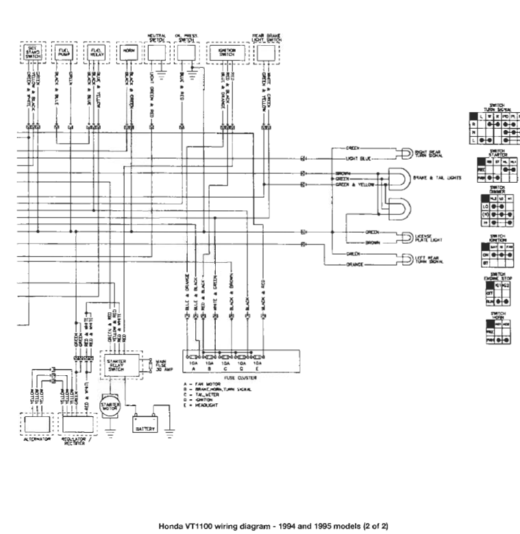 Running a wiring harness. 1994 VT1100 - Honda Shadow Forums : Shadow