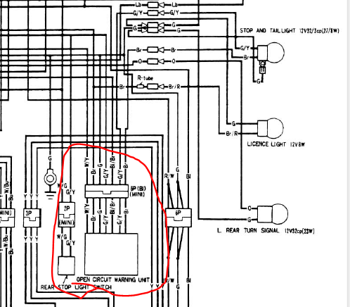 stop brake light relay location 1985 vt700c honda shadow click image for larger version brake circuit
