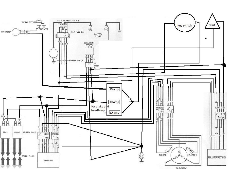 Please HELP 86 Vt700 Complete re-wire Bare Bones Wiring | Honda Shadow  ForumsHonda Shadow Forums