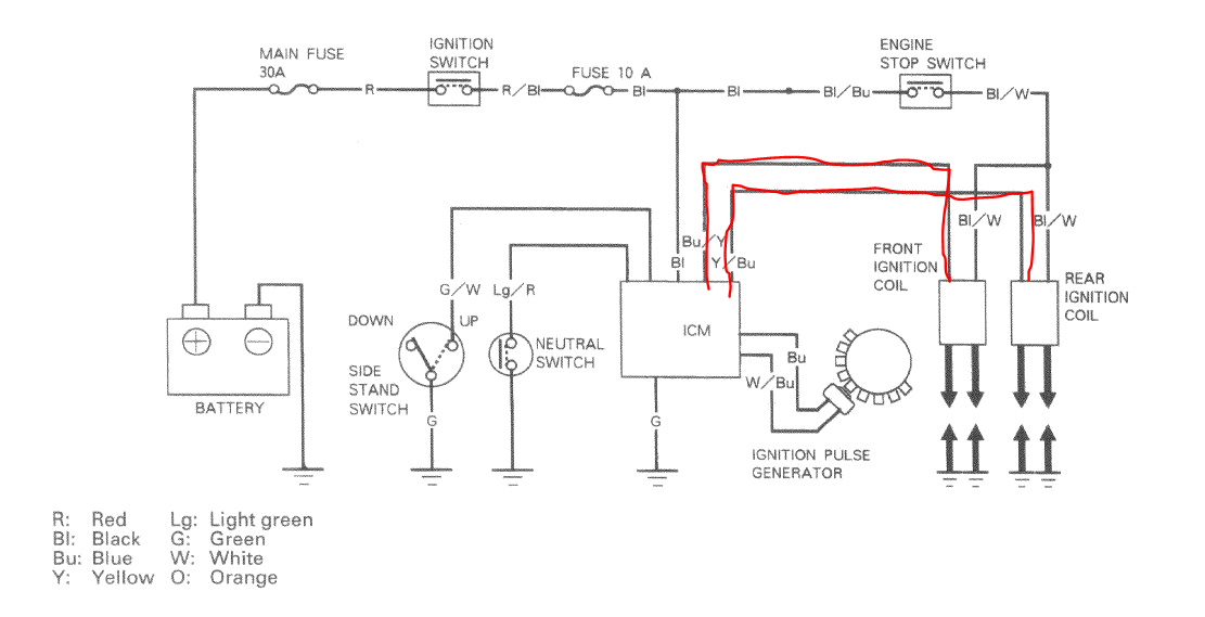 Motorcycle Ignition Coil Wiring Diagram Vt1100 from www.hondashadow.net
