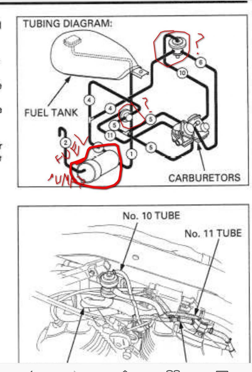 Honda Shadow Carburetor Hose Diagram
