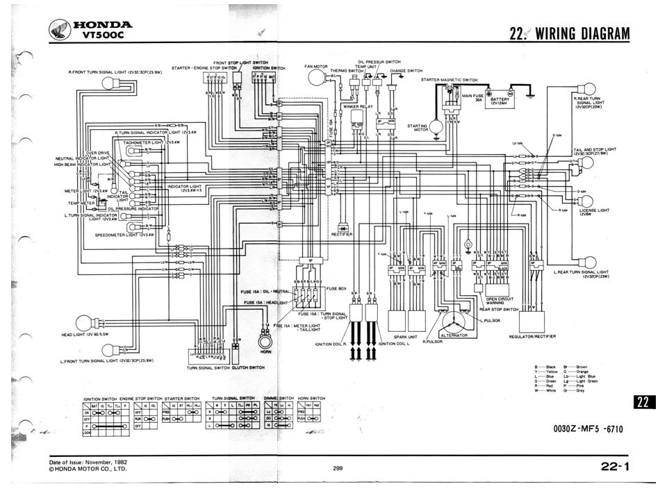 VT500C Wiring Diagram - Honda Shadow Forums : Shadow Motorcycle Forum