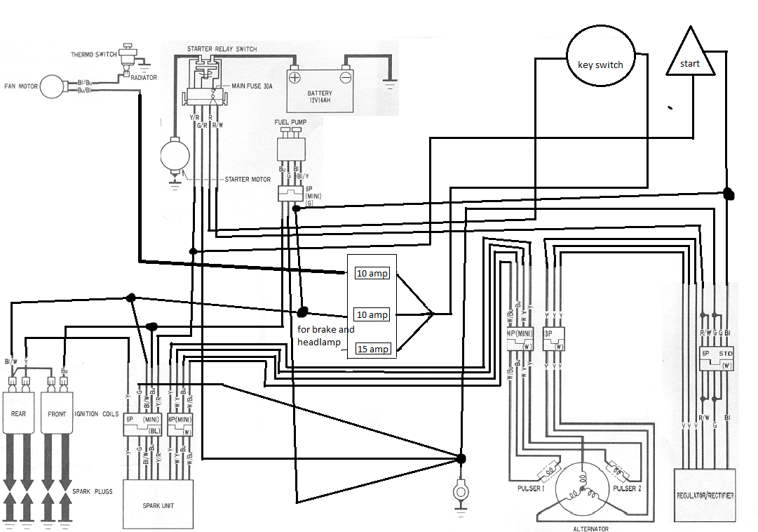 84 Honda Shadow Wiring Diagram Free For You Diagrams Vt1100 Vt 700 Wire Vt700 1100 750