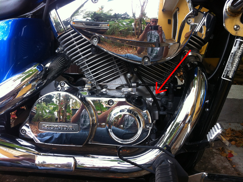 Where does this hose belong? - Honda Shadow Forums : Shadow