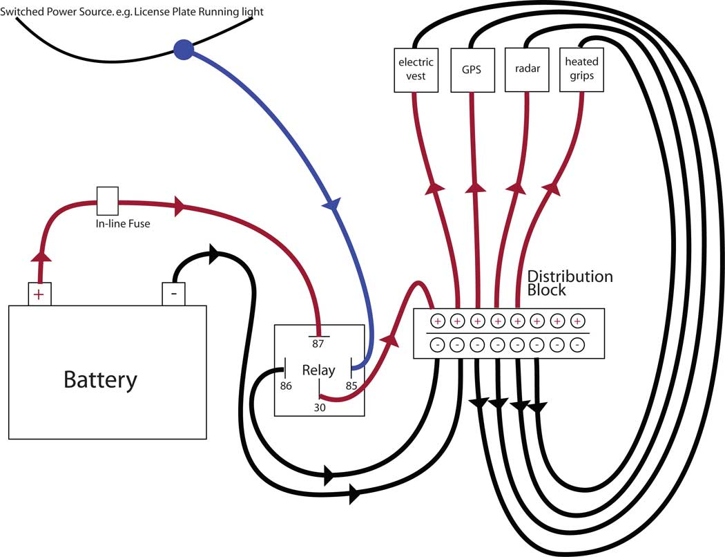 [SCHEMATICS_4HG]  How to wire in mod's   Page 2   Honda Shadow Forums   Optronics 40 Amp 4 Pin Relay Wiring Diagram      Honda Shadow Forums