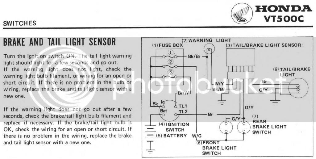 1984 VT500C Tail light problem | Honda Shadow Forums on