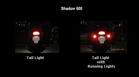 Should rear turn signals be running lights also   Shadow VLX