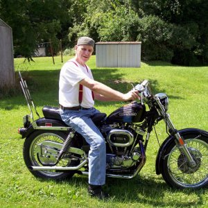 1973 Harley Iron Head 1000 XLCH (I traded this bike for the Yamaha V Star 650)