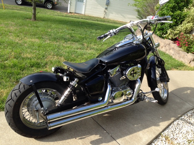 Anyone Put A Solo Spring Seat On A Spirit Vt1100 Honda Shadow